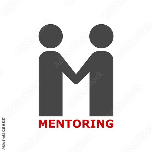 Mentoring icon, Mentoring concept