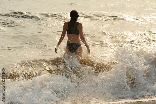 Leinwanddruck Bild Badeurlaub am Meer