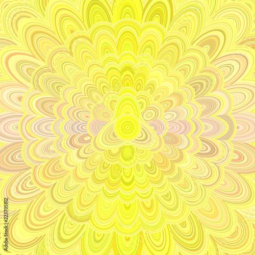 Żółty abstrakcjonistyczny kwiatu mandala projekta tło - wektorowa cyfrowa sztuki ilustracja