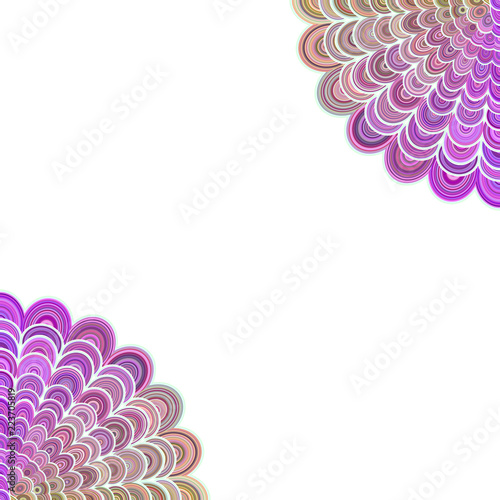 Abstract floral mandala background - vector love concept graphic design