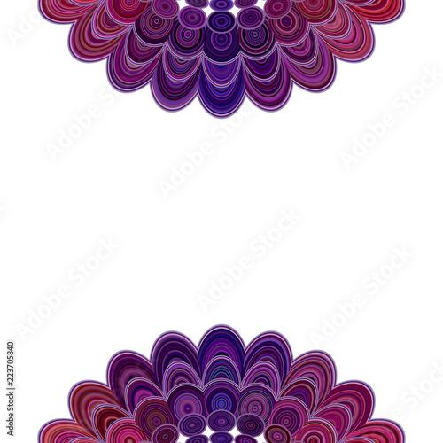 Abstract floral mandala background - vector digital art love concept illustration