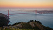 The Golden Gate Bridge with San Francisco in the distance