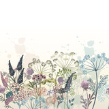 Beautiful vector hand drawn flowers illustration for design - 223711017