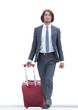 confident businessman with Luggage.