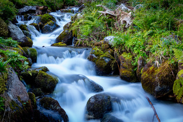 nice waterfall on river