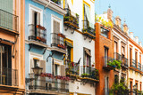 Andalusian style building in Sevilla city, Spain - 223734813