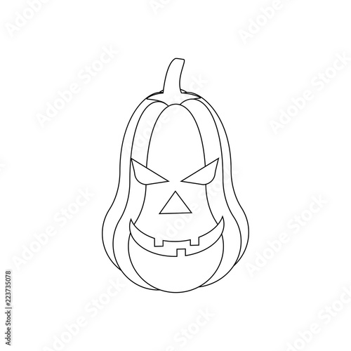 Jack O Lantern Pumpkin Illustration