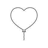 romantic balloon shape heart love - 223743250
