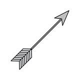 rustic arrow weapon ornament icon - 223748038