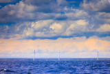 Wind turbines farm in Baltic Sea, Denmark - 223764200