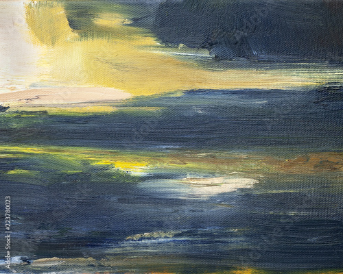 Abstract sky painting © Will
