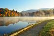 Lake Autumn Foliage fog