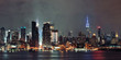 Leinwanddruck Bild - Manhattan midtown skyline at night