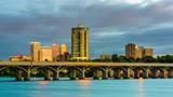 Tulsa, Oklahoma, USA downtown skyline on the Arkansas River - 223800634