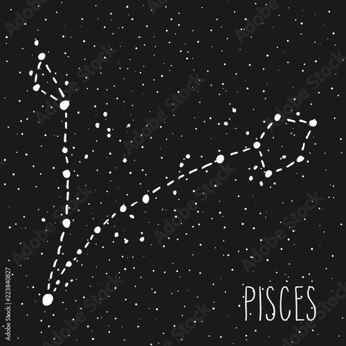 Pisces Zodiac sign constellation