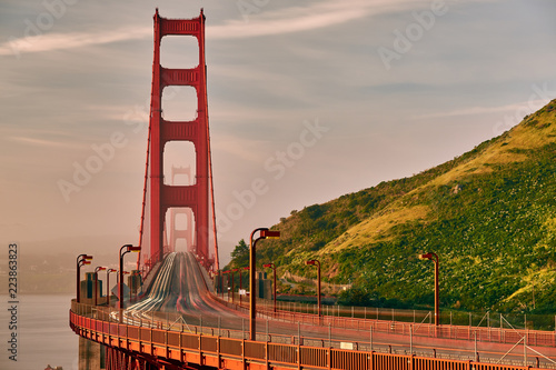 Golden Gate Bridge view at sunrise, San Francisco - 223863823