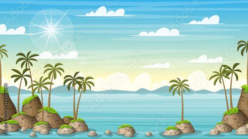 Tropical Coastal Summer Landscape - 223880210