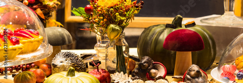retro decoration of the festive table - 223881224