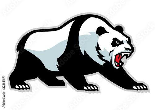 angry panda mascot