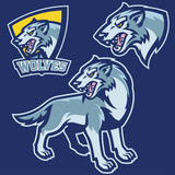 wolf in sport mascot style