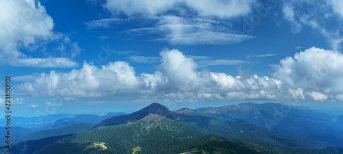 In the top of mountain. Nature background. - 223890802