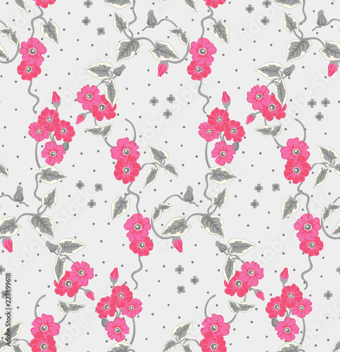 seamless floral pattern with flowers - 223899618