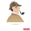 Sherlock Holmes color flat icon