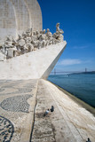 Monument to the Discoveries (Padrao dos Descobrimentos) at the Tagus river with view on 25th of April Bridge - 223917000