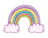 Rainbow and clouds - 223927443