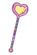Heart shape wand - 223927653