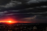 Storm over a sunset