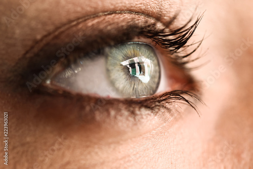 Close-up of beautiful young woman's eye.