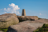 Stones on top of Stanage Edge near Hathersage in the East Midlands, Peak District, Derbyshire, England, UK - 223964446