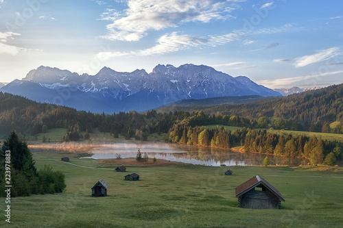 Leinwanddruck Bild Alpensee