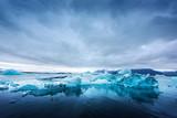 Icebergs in Jokulsarlon glacial lagoon. Vatnajokull National Park, southeast Iceland, Europe. - 224007001