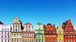 Leinwandbild Motiv Old color houses in Wroclaw, Poland