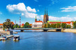 Leinwanddruck Bild - Old Town of Wroclaw, Poland