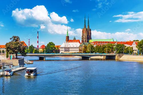 Leinwanddruck Bild Old Town of Wroclaw, Poland