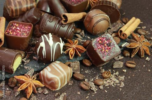 fototapeta na ścianę Chocolats de Noël