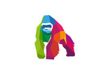 Creative Colorful Gorilla Logo Symbol Vector Illustration