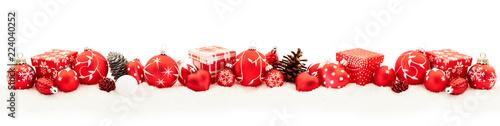 Leinwandbild Motiv Frohe Weihnachten Hintergrund Panorama