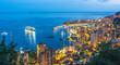 Leinwanddruck Bild - View of the city of Monaco. French Riviera