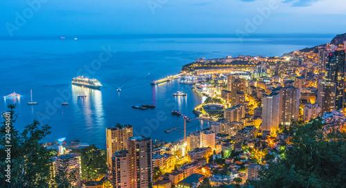Leinwanddruck Bild View of the city of Monaco. French Riviera