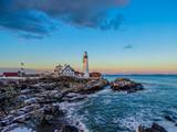 Headlighthouse sunet Portland Maine
