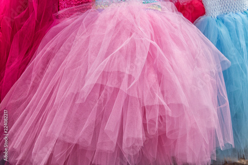 Pink Tulle Skirt - 224082217