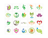 variation mixed abstract ornament herb image vector icon logo symbol set - 224084804