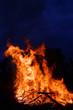 Leinwandbild Motiv Loderndes Feuer