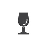 Wine glass vector icon. filled flat sign for mobile concept and web design. wineglass simple solid icon. Symbol, logo illustration. Pixel perfect vector graphics - 224096095