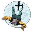Paratrooper in skydiving. - 224099848