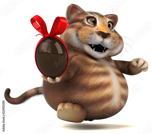Zabawy kot - 3D ilustracja